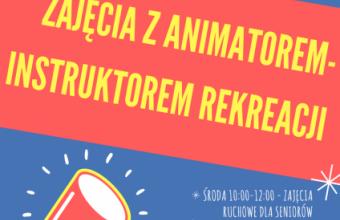 """Bezpłatne zajęcia z animatorem/instruktorem rekreacji na """"Topolowym Ludziku"""""""